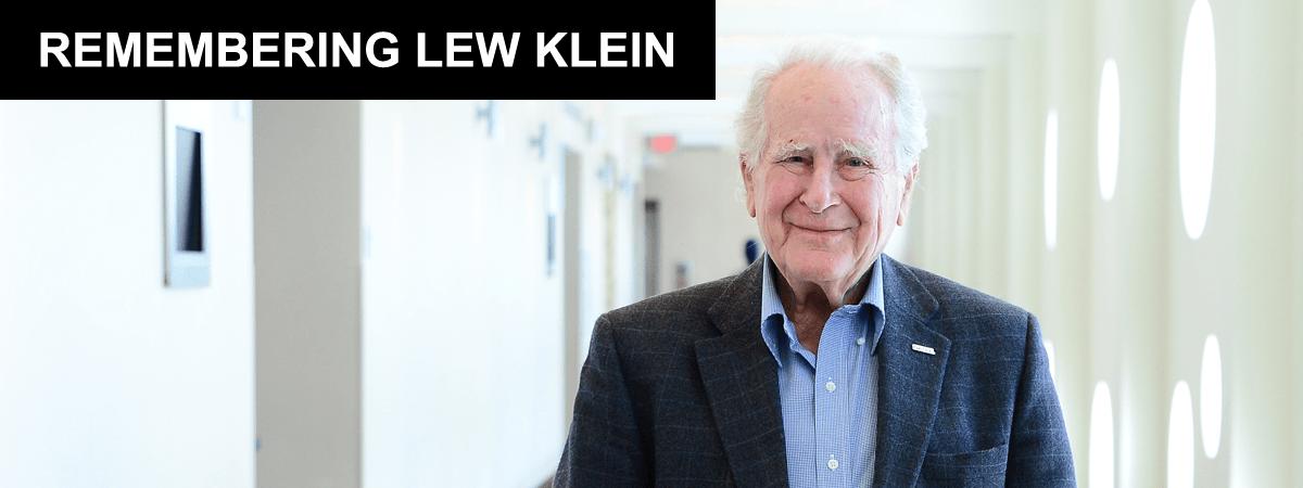 Remembering Lew Klein
