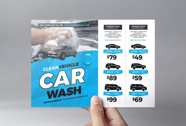 Car Wash Flyer Template V2 Theflyermarket