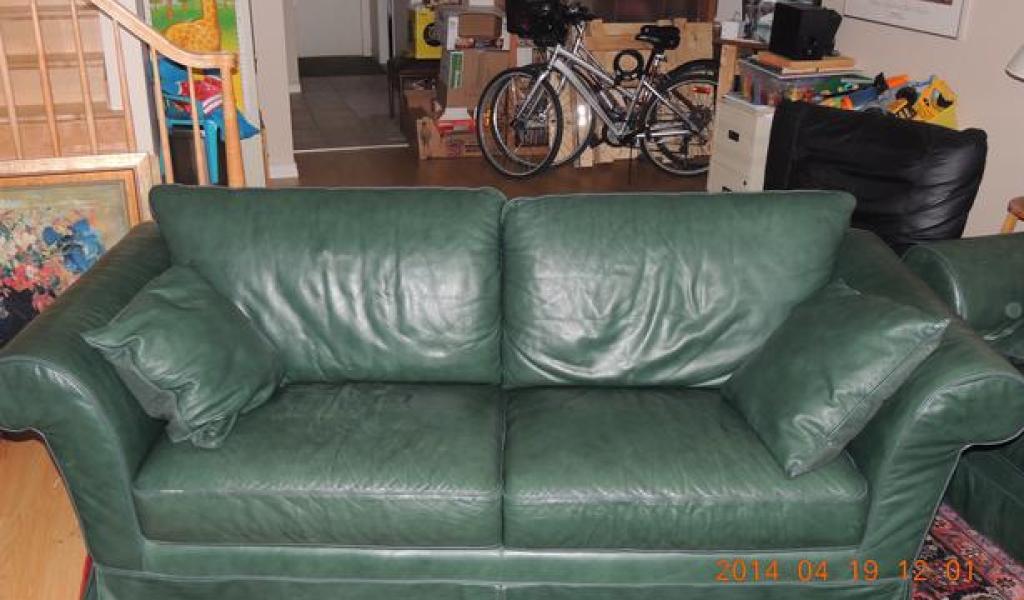 Dark Green Leather Sofa - Home & Garden Improvement Design ...