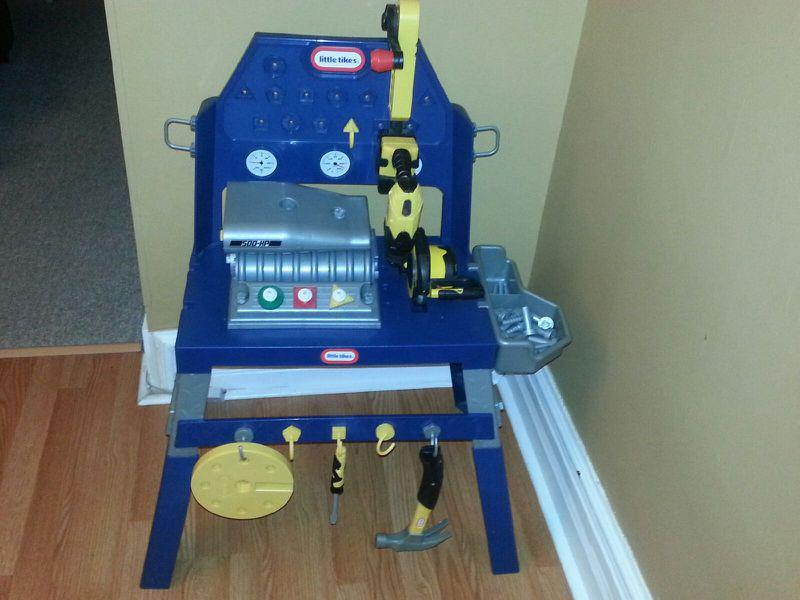 Little Tikes Double Duty Engine And Workbench West Shore