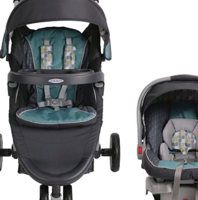 e8bcd3b39f4d7 graco fastaction fold click connect travel system stroller botany ...