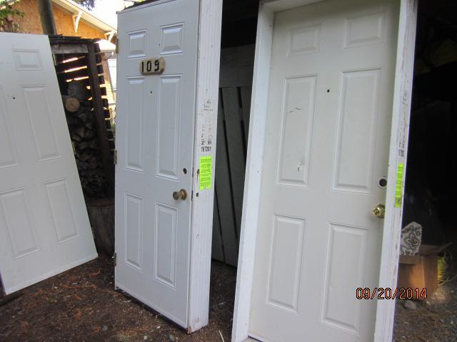 32x80 Exterior Steel Door Slab, Ideal For Shop, Garage