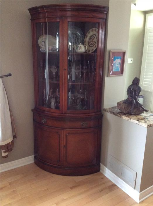 Drexel Mahogany Dining Room Buffet Corner Cabinet And