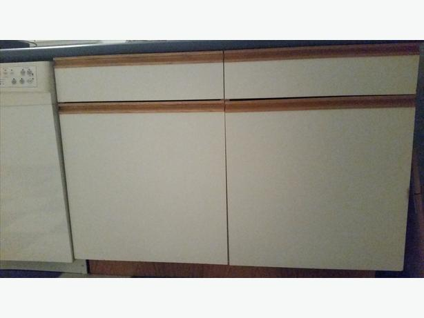 Used Kitchen Cabinets, Countertop And 2-bowl Sink For Sale