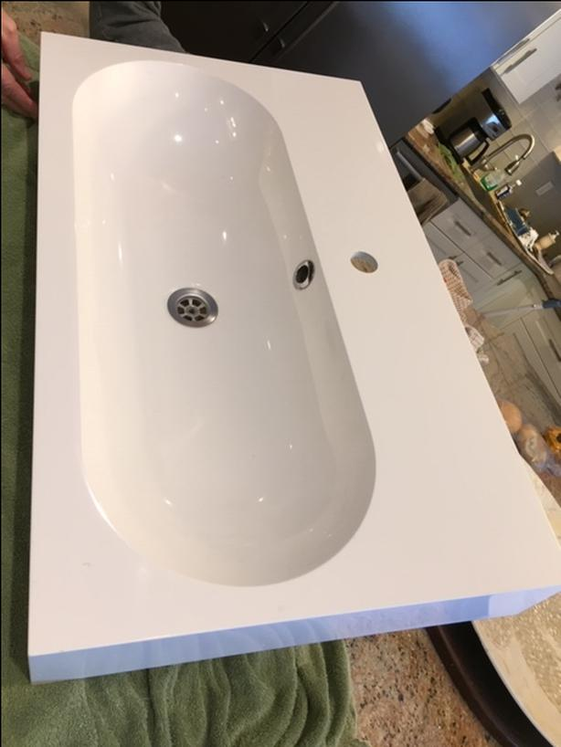 two ikea sink cabinet tops one double