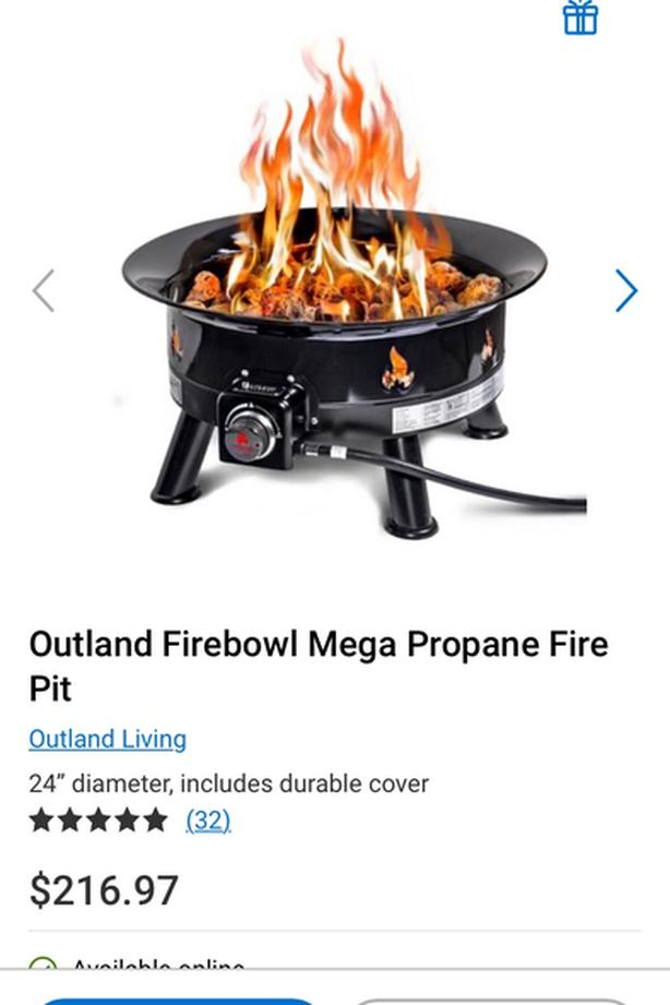 Outland firebowl mega propane fire pit & refillable gas ... on Outland Gas Fire Pit id=54849