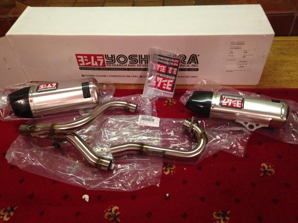 log in needed 650 brand new in box yoshimura rs9 dual exhaust for crf 250 2014 2016