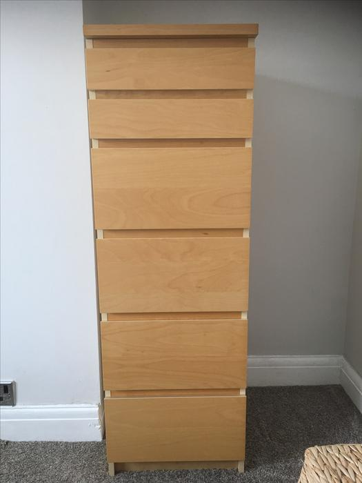 Ikea Malm Beech Tall Chest Of 6 Drawers West Bromwich Dudley