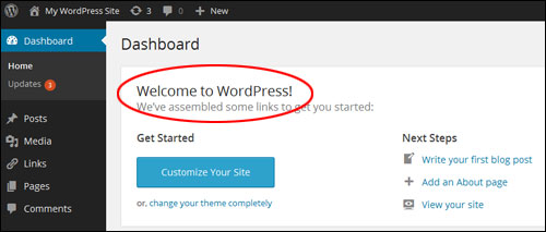 Using Your WP Control Panel