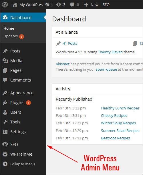 How To Use Your WP Control Panel
