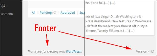 Understanding Your WordPress Control Page
