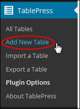 How To Add Tables In Posts And Pages With WordPress