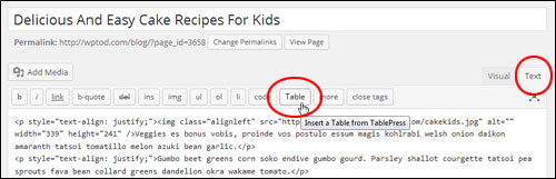 How To Insert Tables Into Your Content In WordPress