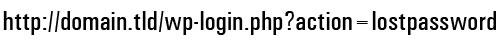 WordPress Password Retrieval