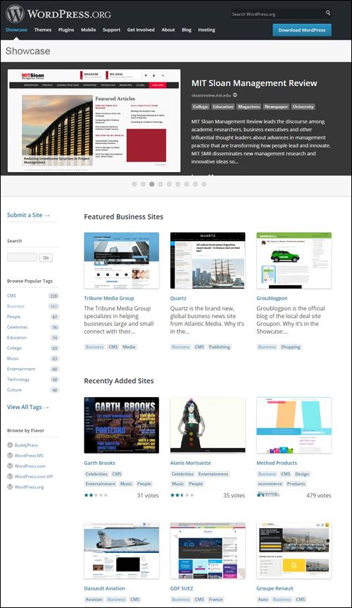 WordPress.org Showcase