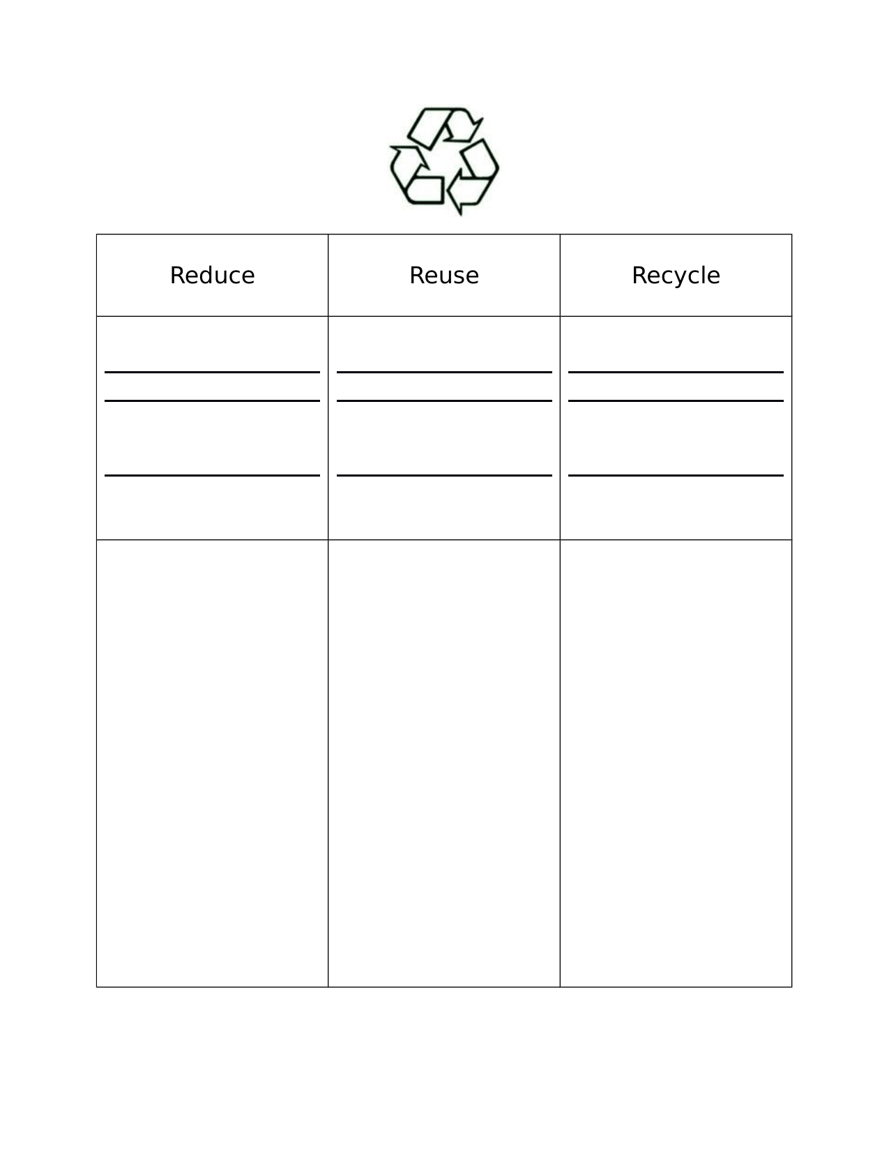Uncategorized Reduce Reuse Recycle Worksheets