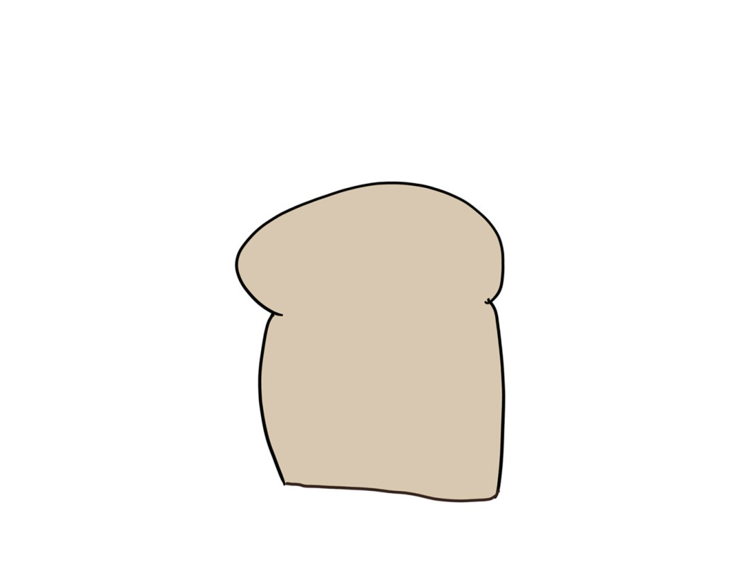 a pencil drawing of bread