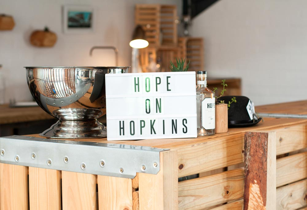 Hope on Hopkins Sign