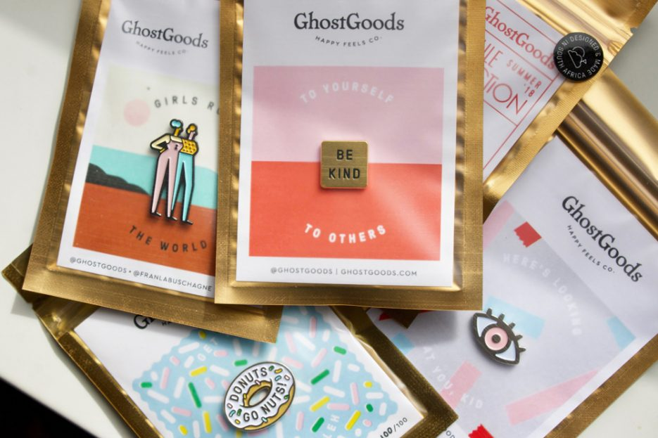 Lapel pins by GhostGoods. Image by Amber Rose Cowie.