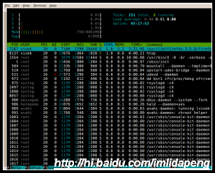 图3:htop - Interactive Linux / UNIX process viewer