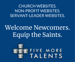 Church websites. Non-profit websites. Servant-Leader Websites