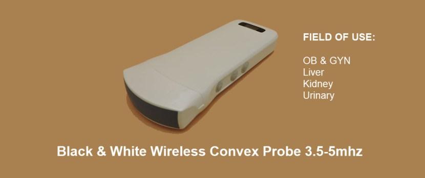 128E B/W Wireless Ultrasound Probe - Linear & Convex 2