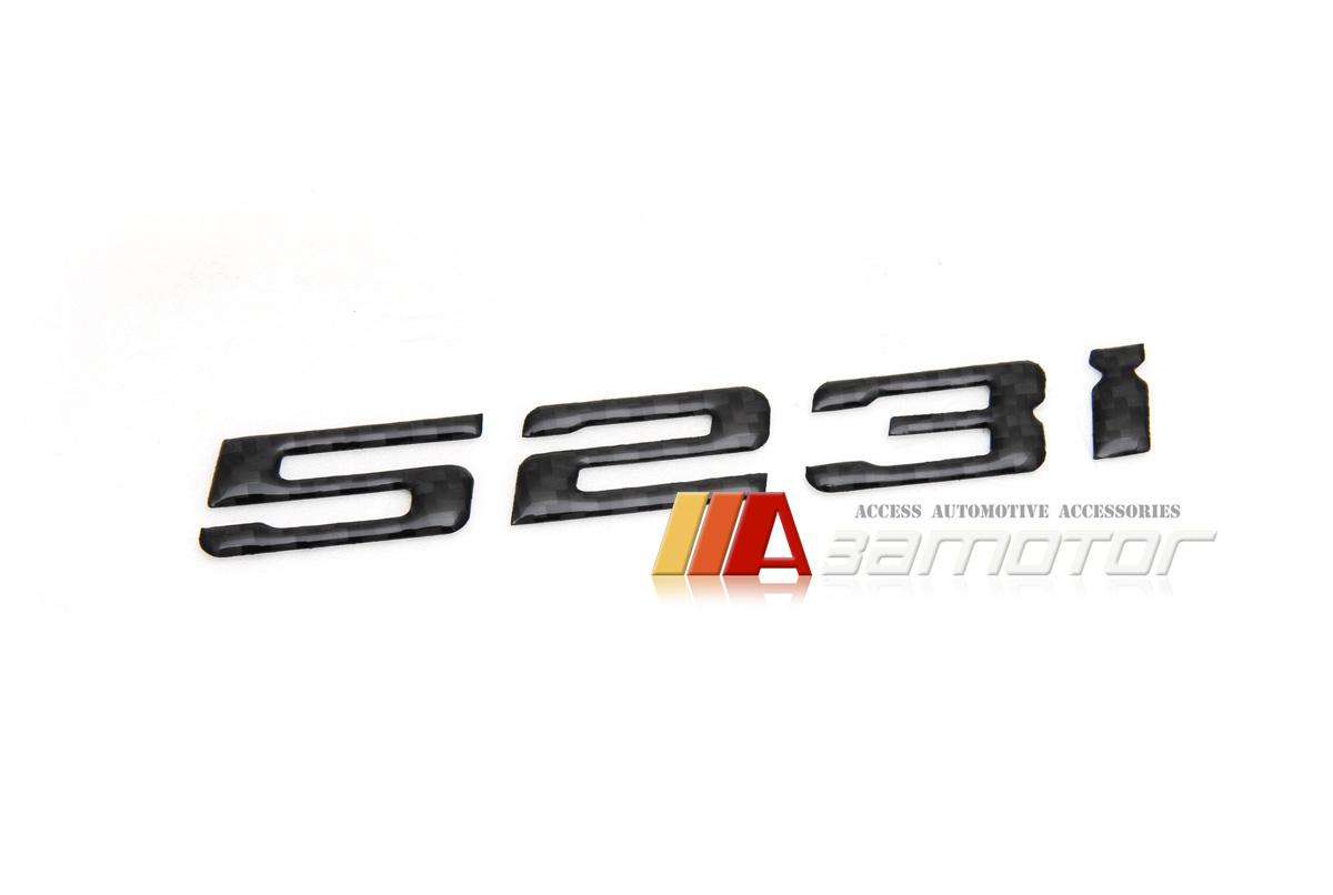 Carbon Fiber Rear Trunk Lid Emblem Badge Letters 523i For