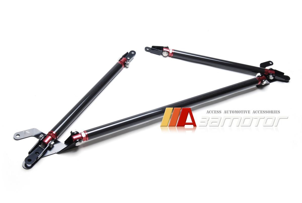 Carbon Fibre Front Strut Tower Brace Bars Kit For Gt86 Ft86 Subaru Brz Toyota 86