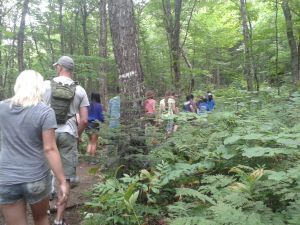 """English for Teens"" campers head into the woods"