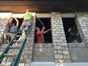Haiti work team 2015 at work