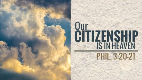 Our Citizenship is in Heaven photo from Google Images