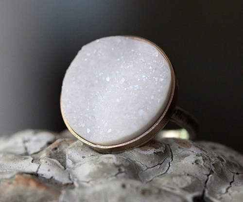 Andrea Bonelli Druzy Cocktail Ring