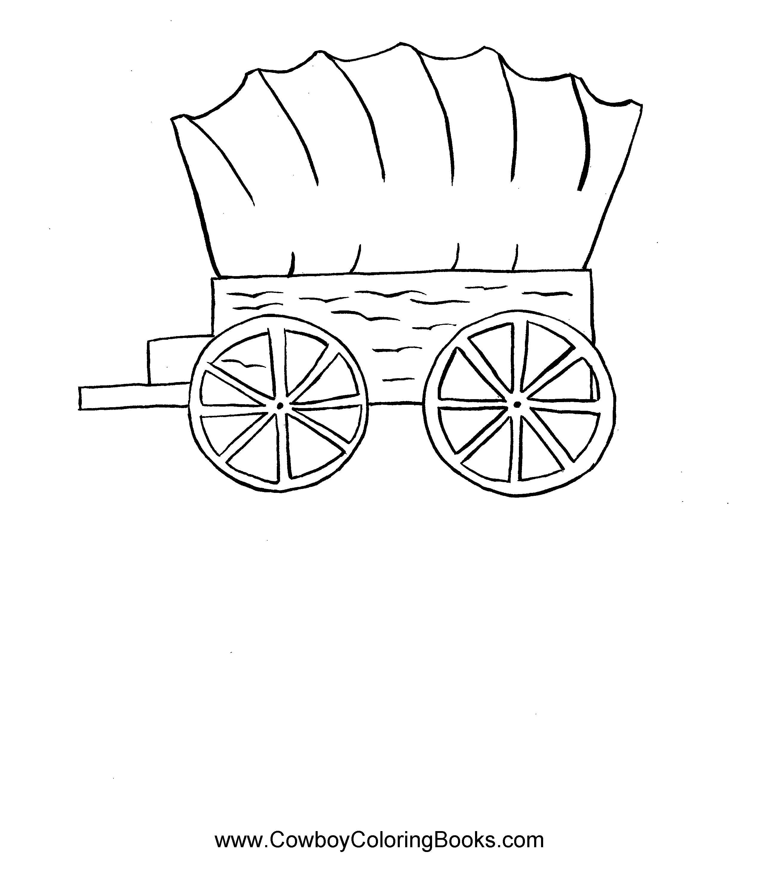 Wagons Oregon Trail Coloring Pages