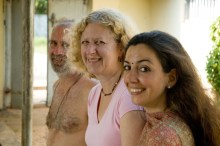Shyamdas, Susan and Tulsi. South India, January 4, 2007