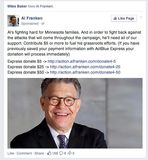 Franken Facebook ad