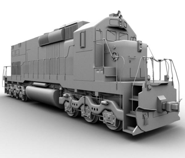 TRAIN MODELING USING MAYA