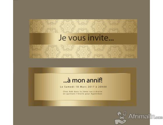 conception de cartes d invitation