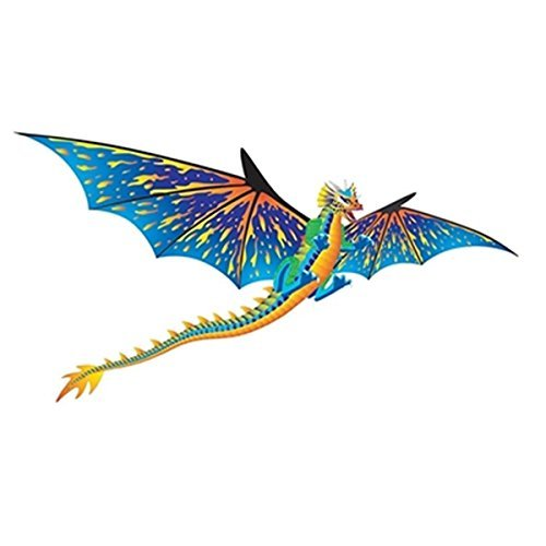 Brainstorm Dragon WindnSun 3-D Nylon Kite, 76″