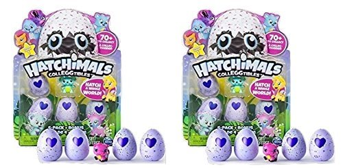 Hatchimals – CollEGGtibles – 4-Pack + Bonus (Styles & Colors May Vary) – Bundle of Two