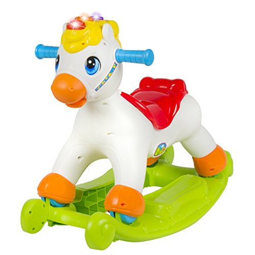Best Choice Products Musical Educational Rocking Horse with Ride On Rollers Learn ABC's, Shapes & Numbers