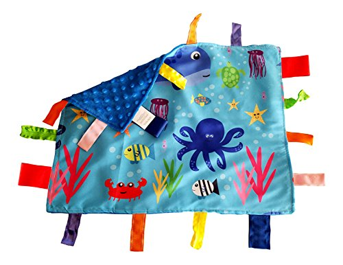 Lovey Security Baby Blanket Sensory Tag Toy Educational Ocean Animals The Learning Lovey