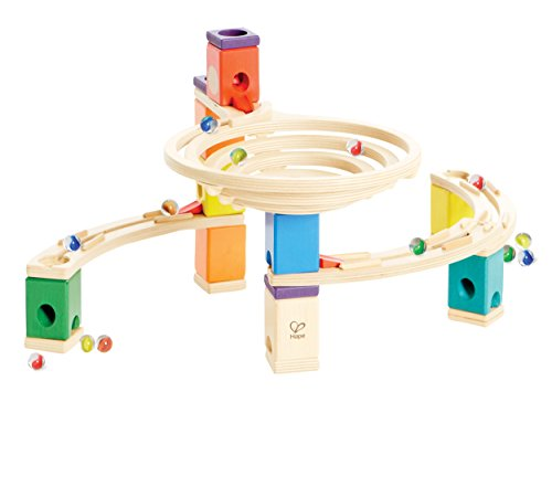 Quadrilla Wooden Marble Run Construction – The Roundabout – Quality Time Playing Together Wooden Safe Play – Smart Play for Smart Families