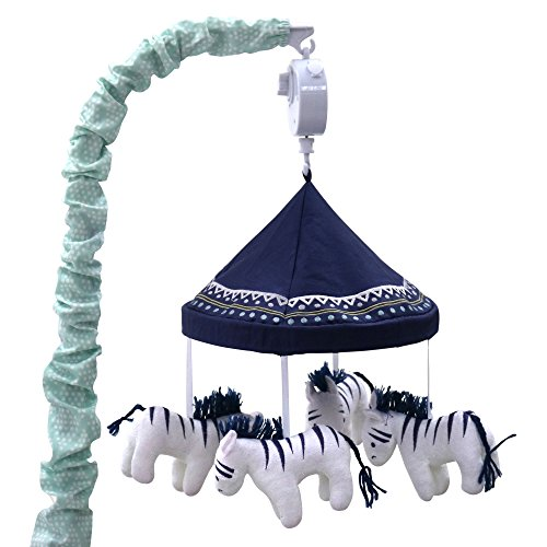 Zebra Musical Mobile – From the Indio Crib Collection by The Peanut Shell