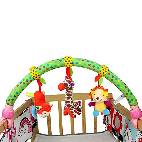 SKK BABY Musical Stroller Crib Activity Bar Toys Car Seat Arch Hanging Rattle Toy Gift For Newborn to Kids