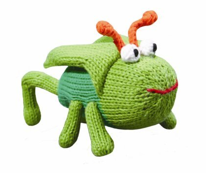 Organic Zubels Grasshopper Gordan 6″ rattle