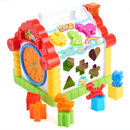 Huile Educational Activity Center Toy Learning Shape Sorter House Play Toy with Tons of Functions