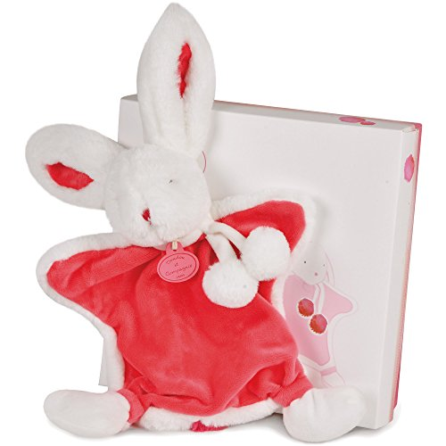 Dou Dou et Compagnie Soothing Lovie Blanket for Baby Strawberry Pink