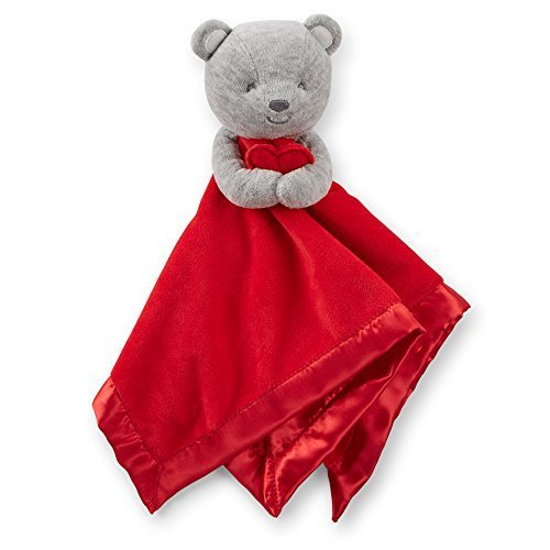 Carter's Baby Valentine's Bear Security Blankie (Grey Red)