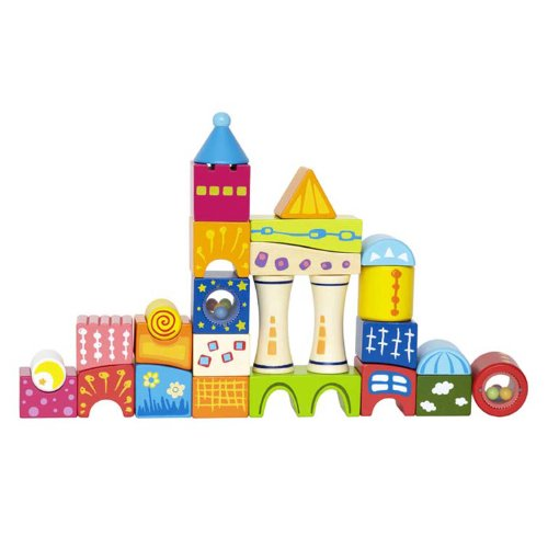 Hape Fantasia Castle Blocks Kid's Wooden Stacking Toy