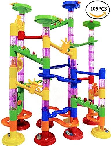 7TECH Marble Run Starter Set Translucent Building Blocks Toys for Kids